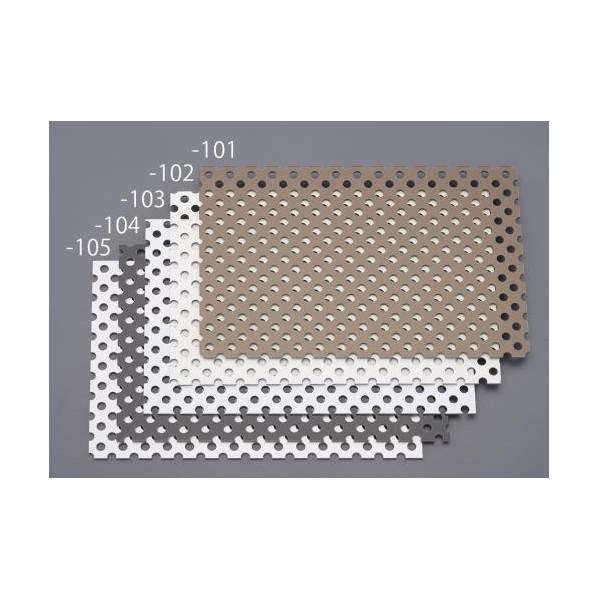 エスコ(esco) 910x 605x3.0mm パンチングアルミ複合板(ホワイト) EA440HA-143 1枚