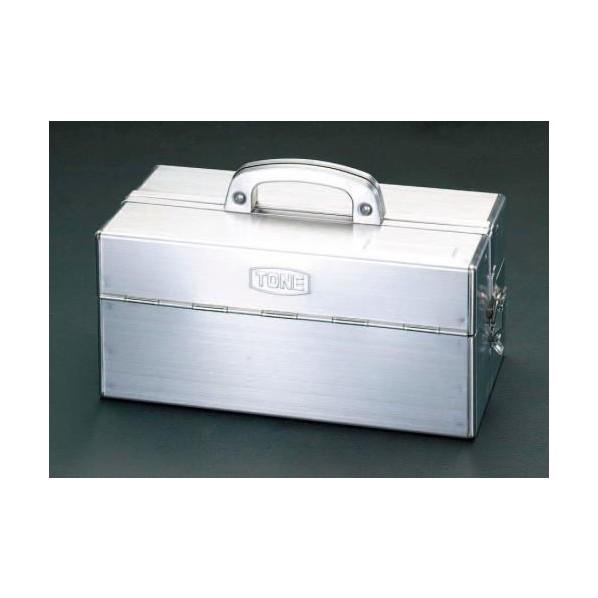 エスコ(esco) 435x225x240mm 工具箱(ステンレス製) EA507SA-435 1個