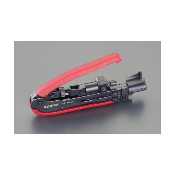 エスコ(esco) 175mm 圧着ツール(同軸ケーブルコネクター用) EA538KG-12 1丁