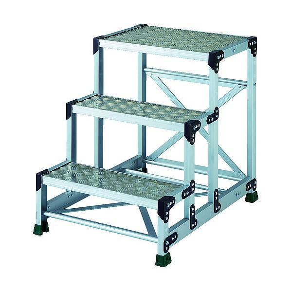 トラスコ(TRUSCO) TRUSCO アルミ合金製作業台 縞鋼板 3段 高さ0.75m 600X400 880 x 810 x 130 mm TSFC-3675 1点