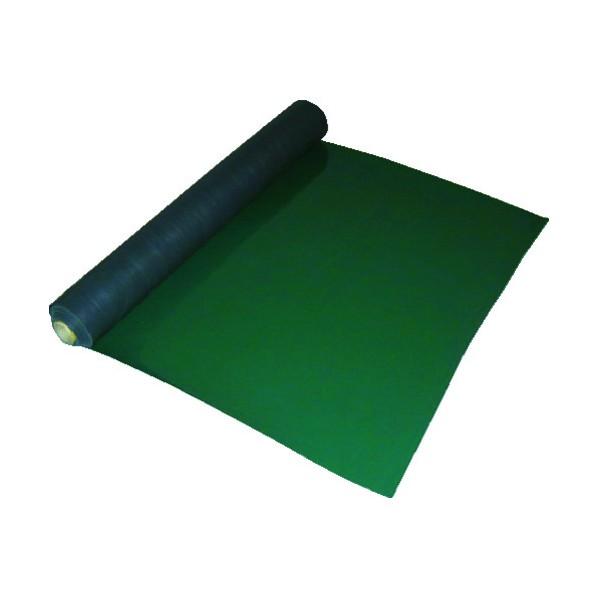 ワニ印 ワニ印 塩ビ養生マット 平マット グリーン 1.5mm厚×915mm×20m巻 003023 1