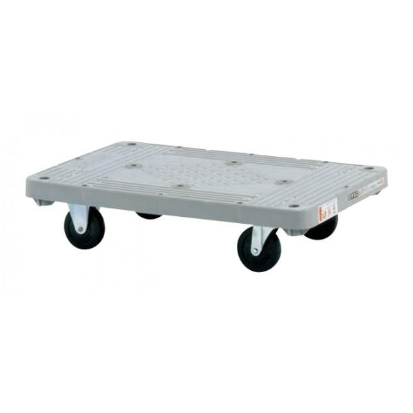 サカエ 樹脂平台車(自在・固定タイプ) カラー:グレー 外寸(間口W×奥行D×高さH)(mm):800×505×172 MHN-10 1台 0