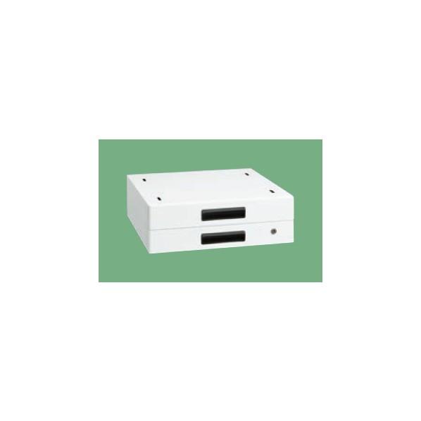 サカエ 作業台用オプションキャビネット(パールホワイト) カラー:パールホワイト 外寸(間口W×奥行D×高さH)(mm):500×500×83 NKL-20WB 1台 0