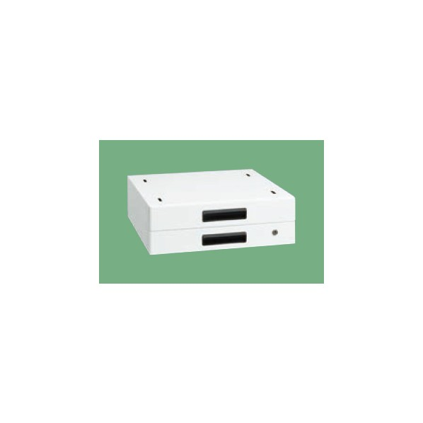 サカエ 作業台用オプションキャビネット(パールホワイト) カラー:パールホワイト 外寸(間口W×奥行D×高さH)(mm):500×500×83 NKL-20WC 1台 0
