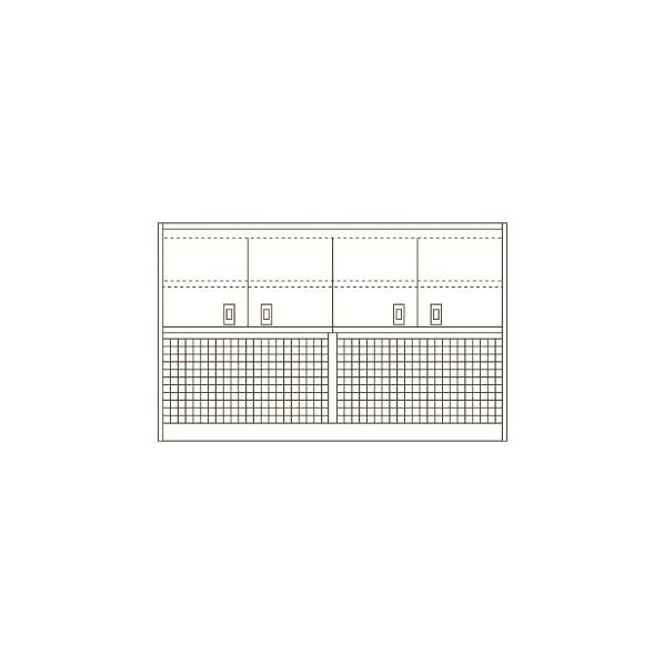サカエ ピットイン(架台) カラー:パールホワイト 外寸(間口W×奥行D×高さH)(mm):900×375×1050 PN-9HMPCKW 1台 0