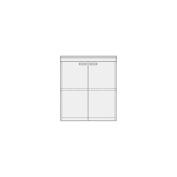 サカエ ピットイン キャビネット(天板付) 外寸(間口W×奥行D×高さH)(mm):900×650×950 カラー:パールホワイト PN-F92W 1台
