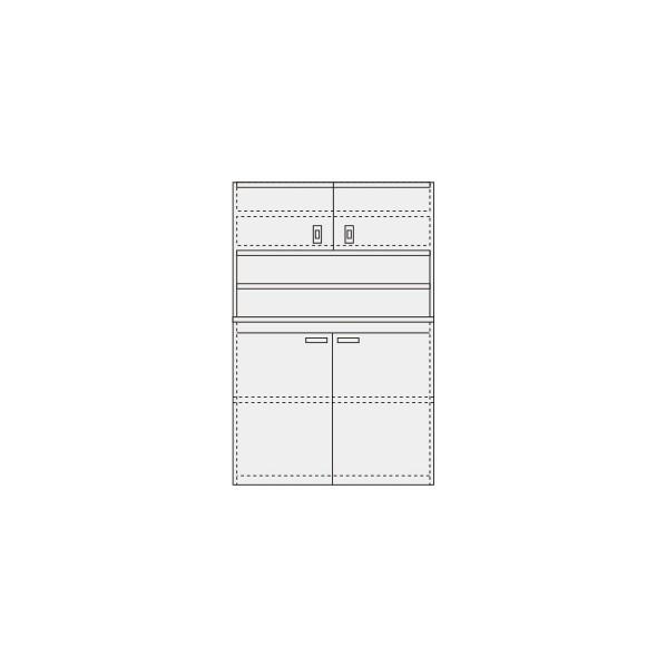 サカエ ピットイン カラー:パールホワイト 外寸(間口W×奥行D×高さH)(mm):1200×650×2000 PN-H22DW 1台 0