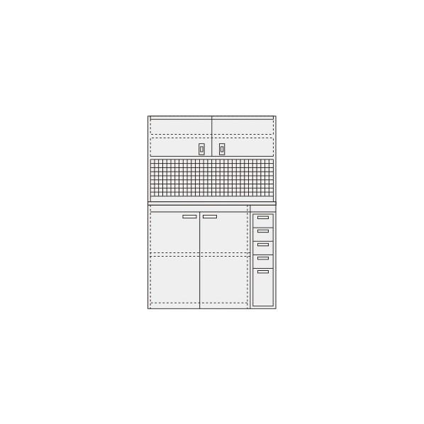サカエ ピットイン カラー:パールホワイト 外寸(間口W×奥行D×高さH)(mm):1200×650×2000 PN-H24PDW 1台 0