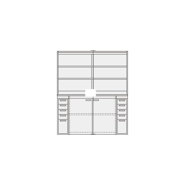 サカエ ピットイン カラー:パールホワイト 外寸(間口W×奥行D×高さH)(mm):1800×650×2000 PN-H84W 1台 0