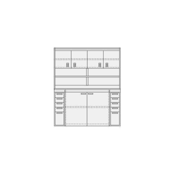サカエ ピットイン カラー:パールホワイト 外寸(間口W×奥行D×高さH)(mm):1800×650×2000 PN-H84DW 1台 0