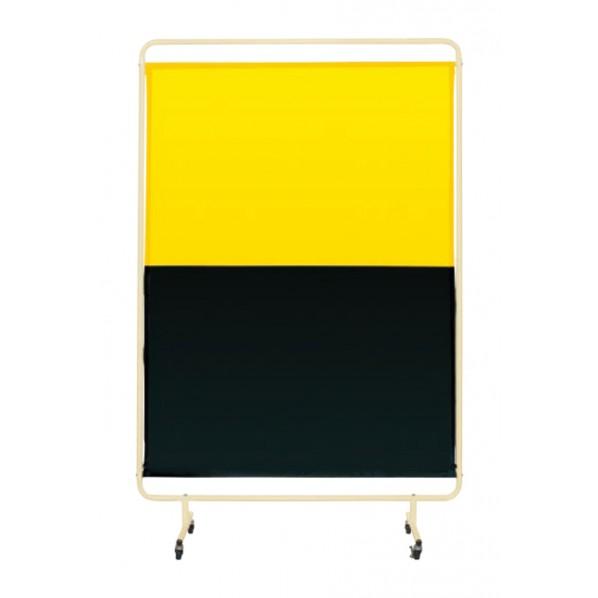 サカエ 遮光スクリーン(移動式) カラー:イエロー・ダークグリーン 外寸(間口W×奥行D×高さH)(mm):1310×2057 YSH-13GYEC 1台 0