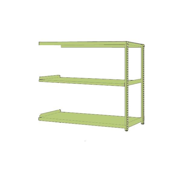 サカエ RKラック(連結・均等耐荷重:250kg/段・3段タイプ) カラー:グリーン 寸法(間口W×奥行D×高さH)(mm):1500×750×1500 RKN-5753R 1台 0