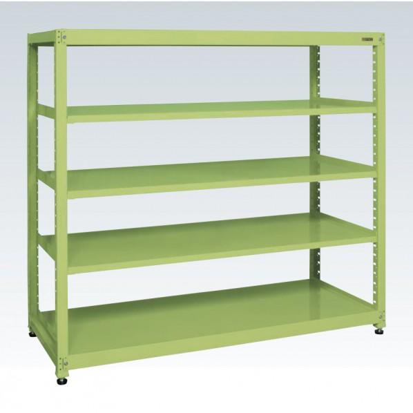 サカエ RKラック(連結・均等耐荷重:250kg/段・5段タイプ) カラー:グリーン 寸法(間口W×奥行D×高さH)(mm):1500×600×1800 RKN-5685 1台 0