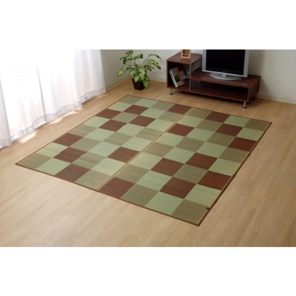 イケヒコ・コーポレーション Fブロック2 ブラウン 191×191cm 8220770 1枚