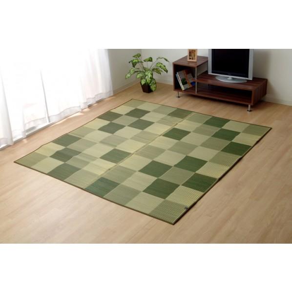 イケヒコ・コーポレーション Fブロック2 グリーン 191×191cm 8220920 1枚
