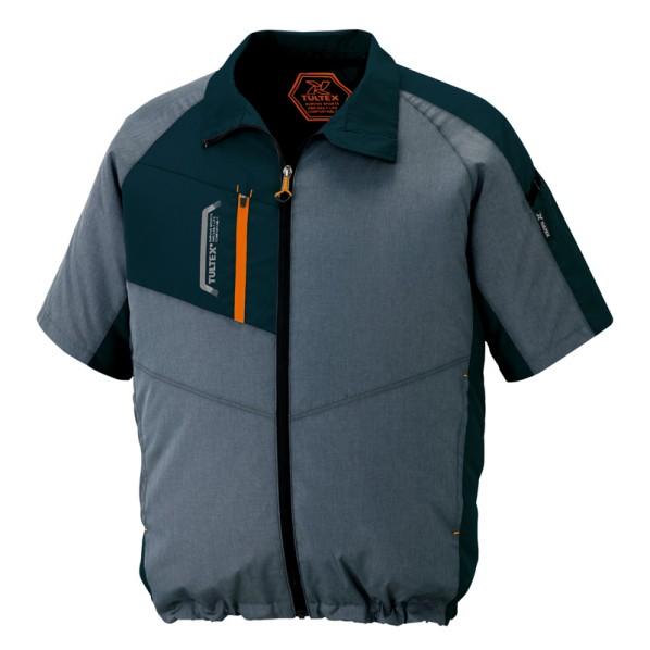 アイトス 半袖ジャケット(空調服TM)(男女兼用) 114モクチャコール LL AZ-50198-114 1枚