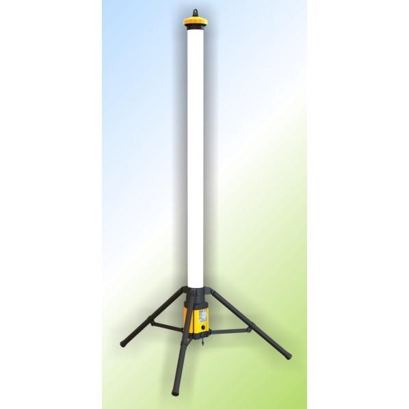 キシデン工業 LEDラウンドバー(充電式・リチウムバッテリー仕様) 160cm×20cm×20cm L-120B 1台