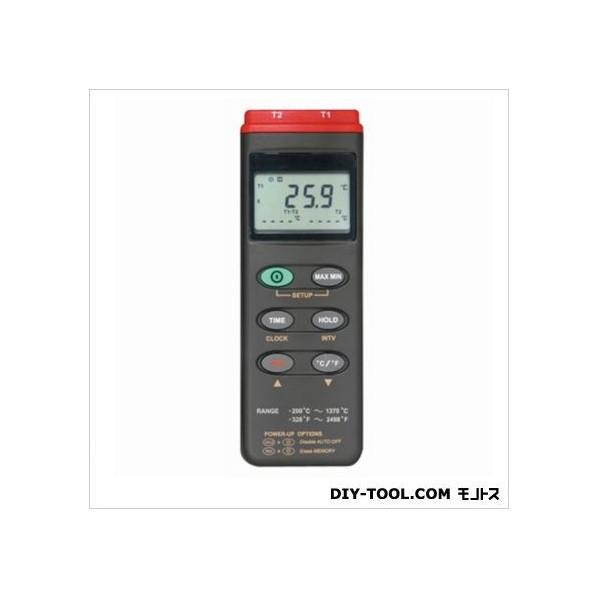 マザーツール デジタルデーターロガ温度計(2点式) 64(W)×184(H)×30(D)mm MT-306 1個