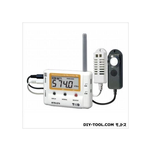 ティアンドデイ 小型データロガー/子機・照度・紫外線量1CH H 55 mm x W 78 mm x D 18 mm アンテナ長 60 mm RTR-574 1台