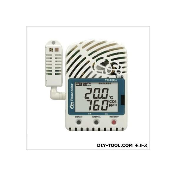 ティアンドデイ CO2濃度、温度、湿度データロガー H 96mm x W 66mm x D 46mm TR-76UI 1台