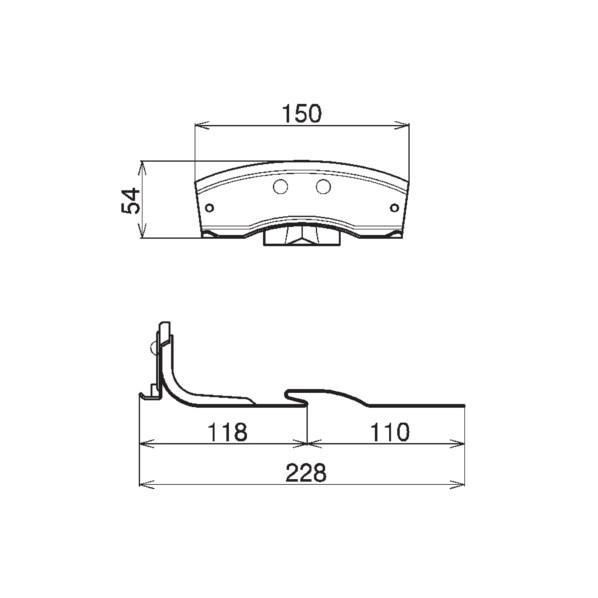 SWALLOW 高耐食鋼板 ブラック アイビス S60 1101902 ブラック 30個 黒 特売 W150 再入荷/予約販売!