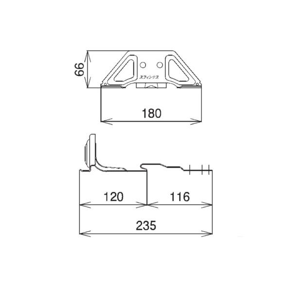 SWALLOW D420 高耐食鋼板 ブラック スフィンクスS60雪止 段葺(III型) ブラック(黒) 164412 30個