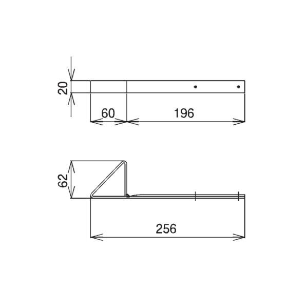 SWALLOW D358 304ステン 生地 波板用三角アングル雪止 生地ステン色 187210 100個