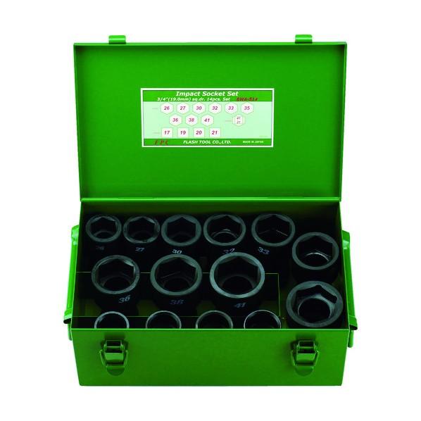 FPC FPC インパクト セミロングソケット セット 差込角19mm 14pc 212 x 316 x 13 mm 1S