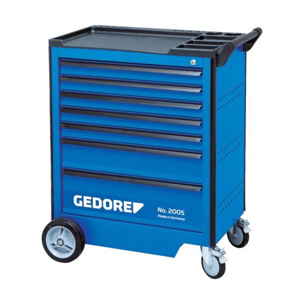 GEDORE GEDORE ツールトローリー 引出6段 67x3 137x2 207x1 475 x 755 x 985 mm 工具セット