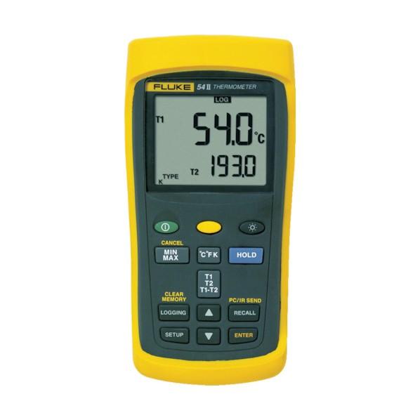FLUKE FLUKE 温度計(ロガー機能付・2チャンネル) 220 x 165 x 65 mm 54-2B 1