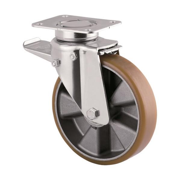 テンテキャスター テンテキャスター 重荷重用高性能旋回キャスター(ウレタン車輪・メンテナンスフリー) 400×300×250MM 3642ITP160P63 CONVEX 1台
