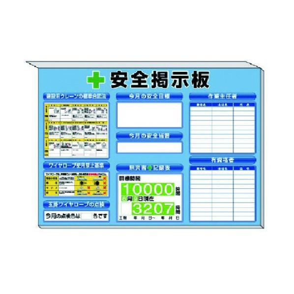 ユニット ミニ掲示板クレーンの基準合図法他入青地850×1200 313-53B 1S