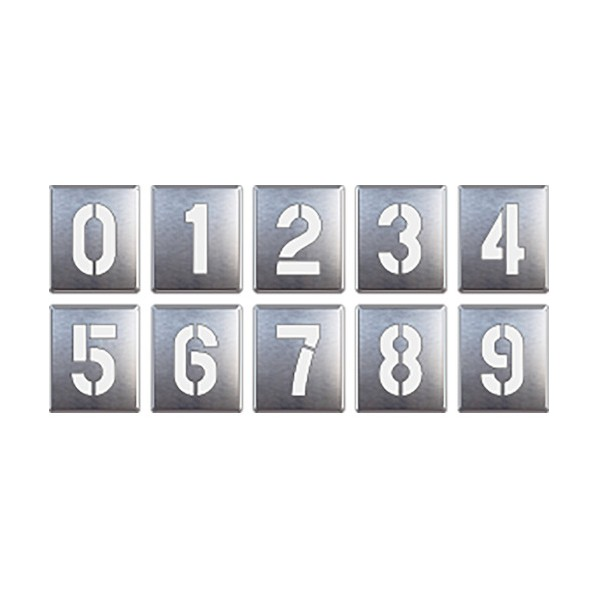 ユニット 吹付け用プレート0~9(10枚1組) 819-35A