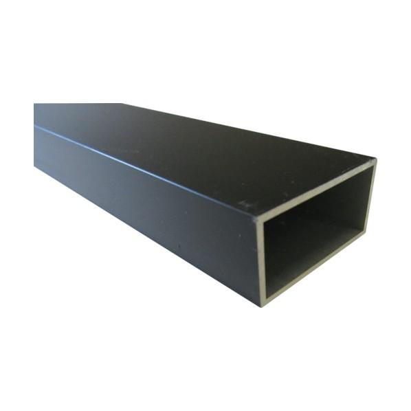 アルインコ アルミ角パイプ 60X25X2.0 ブラック 4m 4000×60×25MM FB142K 1個