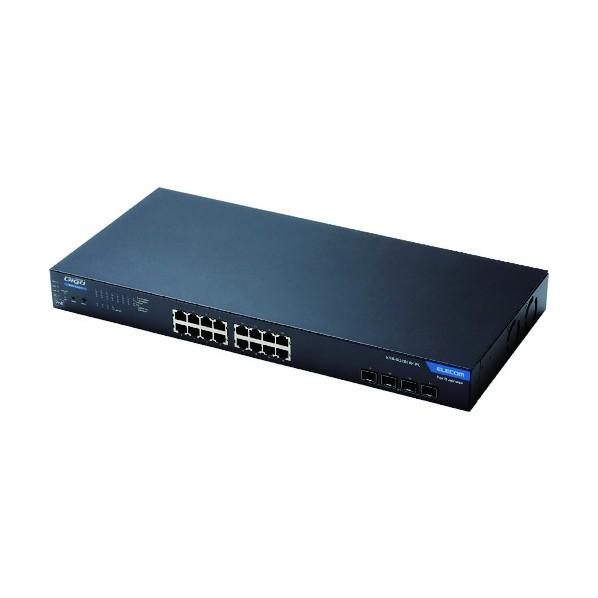 エレコム エレコム 1000BASE-T対応 スイッチングハブ WEBスマート対応 PoE 16ポート 3年保証 508 x 306 x 91 mm EHB-SG2B16F-PL