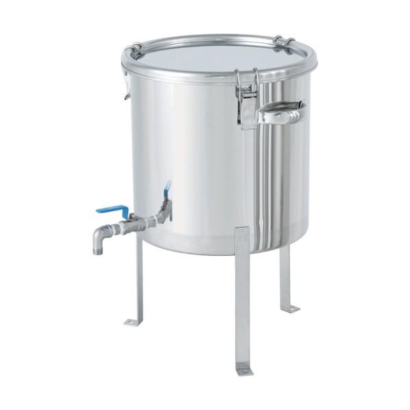 日東 日東 ボールバルブ付密閉容器平鋼脚付 20L CTHV-FL-30 ボトル・容器