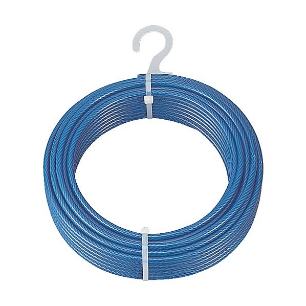 トラスコ(TRUSCO) メッキ付ワイヤーロープ PVC被覆タイプ Φ9(11)mmX50m CWP-9S50 2本