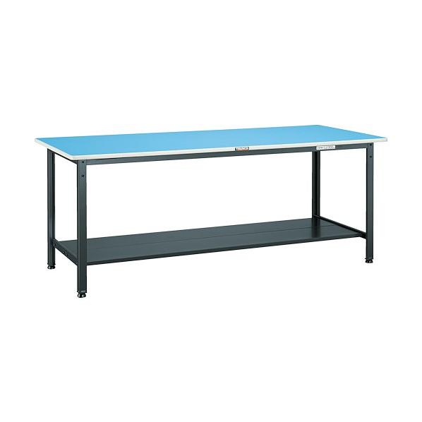 トラスコ(TRUSCO) BE型軽量作業台 ブルー天板 1800X750X740 下棚2枚付 BE-1875LT2 BE-1875LT2 1個
