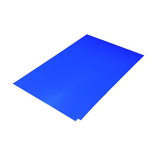 TRUSCO TRUSCO 粘着クリーンマット 450X900MM ブルー (10シート) 915×470×35MM CM459010-B 10枚