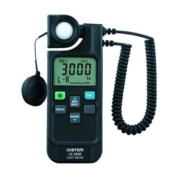 カスタム カスタム LEDモード付きデジタル照度計 157 x 212 x 62 mm LX-3000 1個