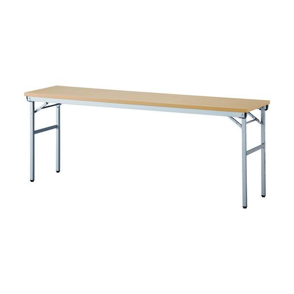 アイリスチトセ アイリスチトセ 折畳みテーブル ワイドタイプ 棚無 奥行450mm ナチュラル OTNK-1845-N 1
