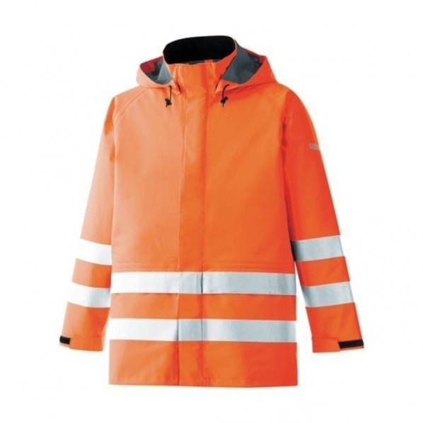 ミドリ安全 ミドリ安全 雨衣 レインベルデN 高視認仕様 上衣 蛍光オレンジ L 630 x 455 x 30 mm 20