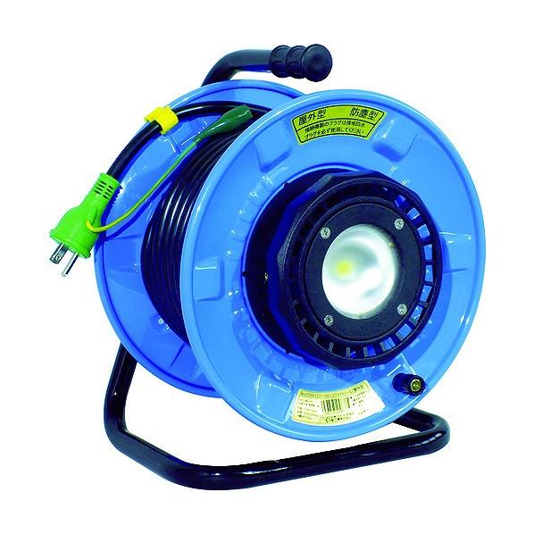 日動 日動 防雨・防塵型LEDライトリール 250 x 285 x 365 mm コードリール・延長コード