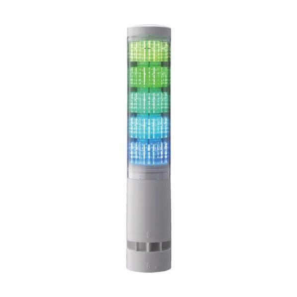 パトライト パトライト LA6型積層情報表示灯Φ60 L型ポール・キャブタイヤ・ブザーあり 800 x 90 x 80 mm LA6-5DLJWB-RYGBC 電気・電子部品