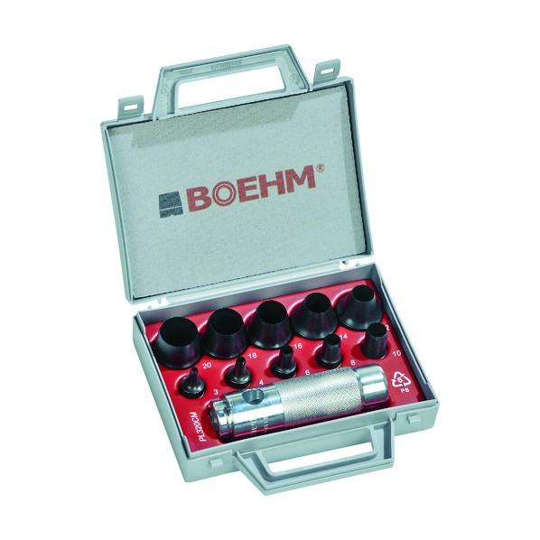 BOEHM BOEHM 穴あけポンチ 10個セット 170 x 161 x 44 mm JLB320CM ハンマー・刻印・ポンチ 10個