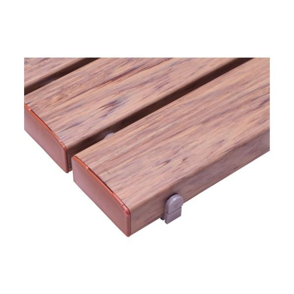 テラモト テラモト 抗菌安全スノコ(組立品)400×1800木調 1800 x 400 x 48 mm