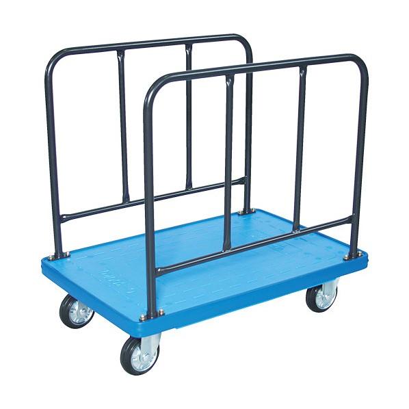 ※法人専用品※トラスコ(TRUSCO) TRUSCO MKP樹脂製台車 サイドハンドル 906×616 ブルー MKP-310-B 1