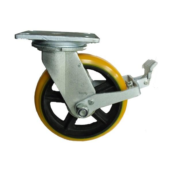 ヨドノ ヨドノ 重量用高硬度ウレタン自在車200φストッパー付 142 x 322 x 257 mm SDUJ200ST 2