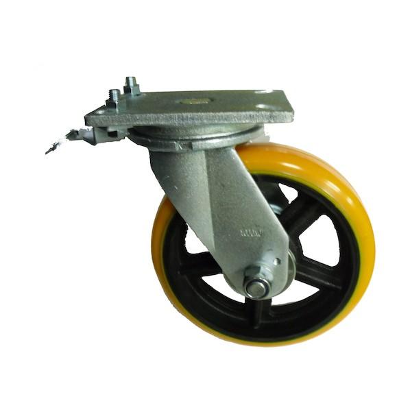 ヨドノ ヨドノ 重量用高硬度ウレタン自在車250φ旋回ロック付 133 x 282 x 302 mm SDUJ250TL 2