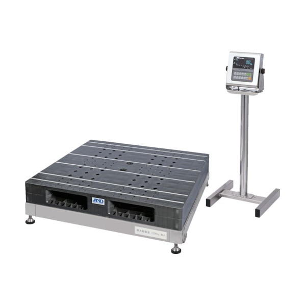 A&D A&D 防塵・防水パレット一体型デジタル台はかり 検定付 SN1200KWP-K 計測機器